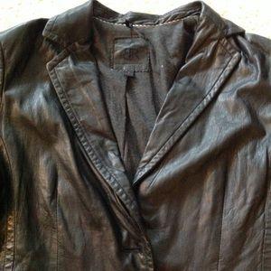Banana Republic lamb leather blazer